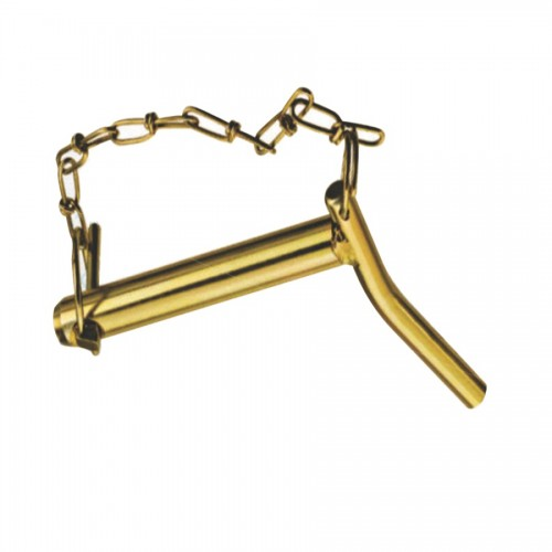 Bent handled hitch pin with chain